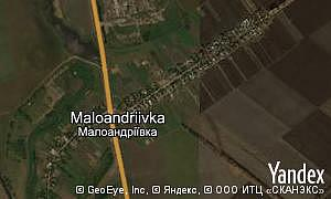 Map of  village Maloandriivka