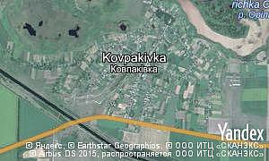 Map of  village Kovpakivka