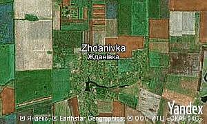 Map of  village Zhdanivka