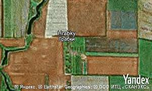 Map of  village Hrabky