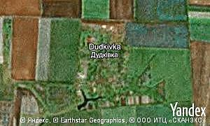 Map of  village Dudkivka