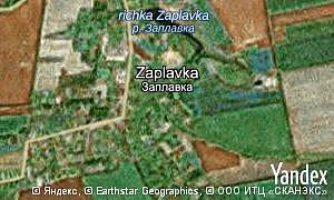 Map of  village Zaplavka