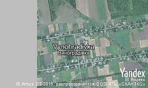Map of  village Vynohradivka