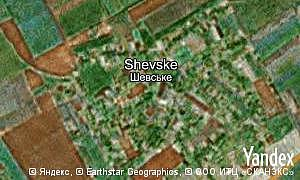 Map of  village Shevske