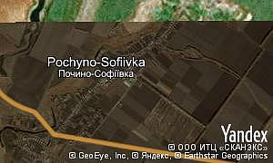 Map of  village Pochyno-Sofiivka
