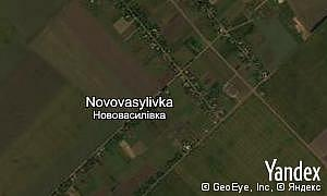 Map of  village Novovasylivka