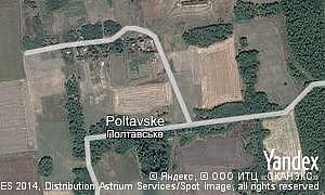 Map of  village Poltavske