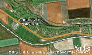 Map of  village Andronivka