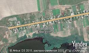 Map of  village Zmahannia