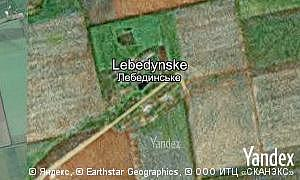 Map of  village Lebedynske