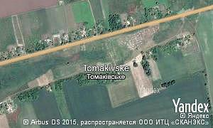 Map of  village Tomakivske