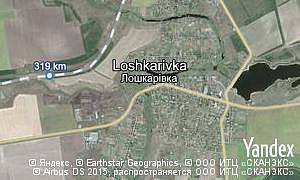 Map of  village Loshkarivka