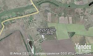 Map of  village Shyshkyne
