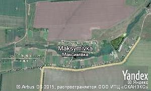 Map of  village Maksymivka