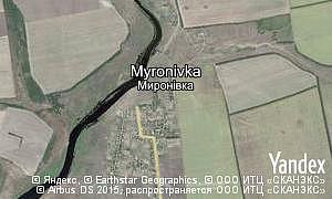 Map of  village Myronivka