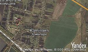 Map of  village Komintern