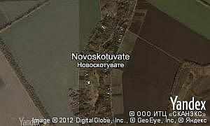 Map of  village Novoskotuvate