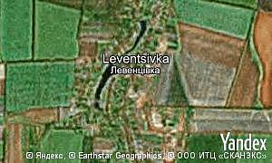 Map of  village Leventsivka