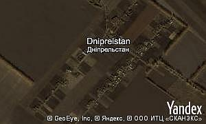 Map of  village Dniprelstan