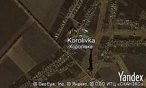 Map of  village Korolivka
