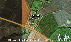 Map of  village Radselo