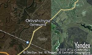 Map of  village Orlivshchyna