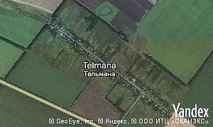 Yandex map of  village Telmana