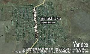 Map of  village Bulakhivka