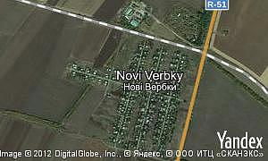 Map of  village Novi Verbky