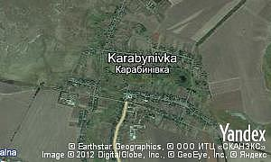 Map of  village Karabynivka