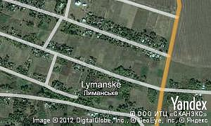 Map of  village Lymanske