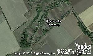 Map of  village Kotovets