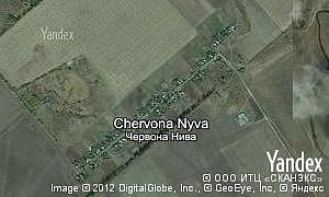 Map of  village Chervona Nyva