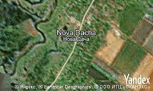 Map of  village Nova Dacha