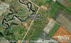 Yandex map of  village Kokhivka
