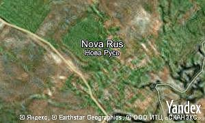 Yandex map of  village Nova Rus