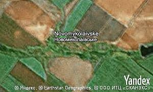 Map of  village Novomykolaivske