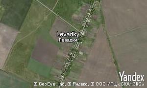 Map of  village Levadky