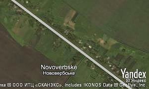 Map of  village Novoverbske