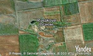 Map of  village Rusakove