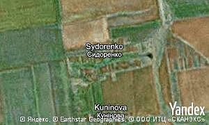 Map of  village Sydorenko
