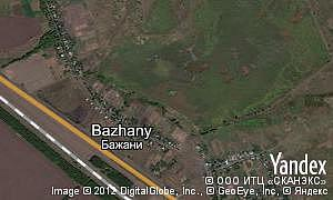 Map of  village Bazhany