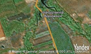 Map of  village Vidrodzhennia