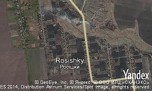 Map of  village Rosishky