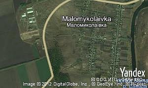 Map of  village Malomykolaivka