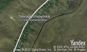 Map of  village Novoprychepylivka