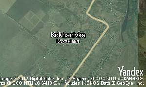 Map of  village Kokhanivka