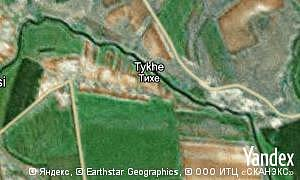 Map of  village Tykhe