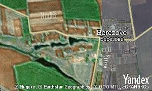 Map of  village Berezove