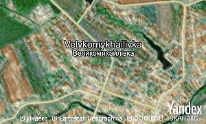 Map of  village Velykomykhailivka